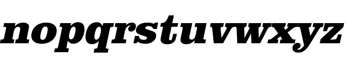 Clarendon URW Extra Narrow Extra Bold Oblique Font LOWERCASE