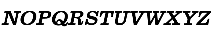 Clarendon URW Extra Narrow Regular Oblique Font UPPERCASE