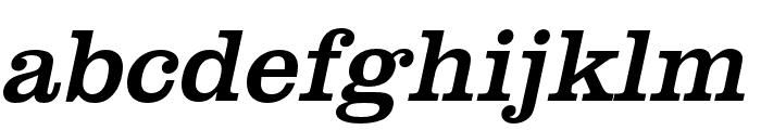 Clarendon URW Extra Narrow Regular Oblique Font LOWERCASE
