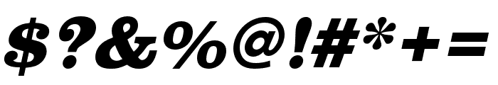 Clarendon URW Extra Wide Extra Bold Oblique Font OTHER CHARS