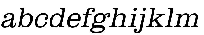 Clarendon URW Extra Wide Light Oblique Font LOWERCASE
