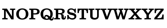 Clarendon URW Extra Wide Regular Font UPPERCASE