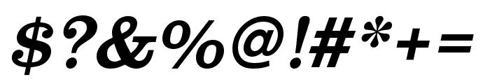 Clarendon URW Narrow Regular Oblique Font OTHER CHARS