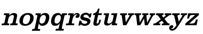 Clarendon URW Narrow Regular Oblique Font LOWERCASE