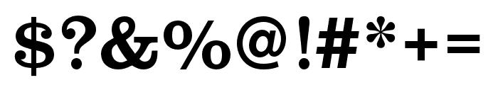 Clarendon URW Narrow Regular Font OTHER CHARS