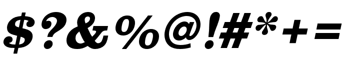 Clarendon URW Wide Bold Oblique Font OTHER CHARS