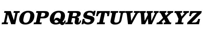 Clarendon URW Wide Bold Oblique Font UPPERCASE