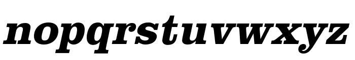 Clarendon URW Wide Bold Oblique Font LOWERCASE