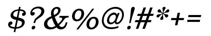 Clarendon URW Wide Light Oblique Font OTHER CHARS
