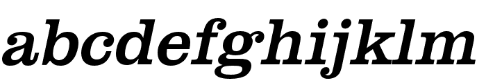Clarendon URW Wide Regular Oblique Font LOWERCASE