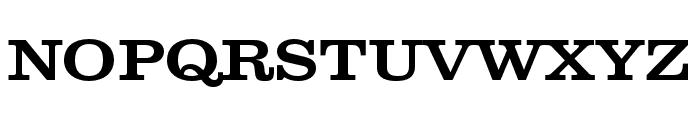 Clarendon Wide Medium Regular Font UPPERCASE