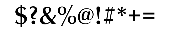 Classico URW Medium Font OTHER CHARS