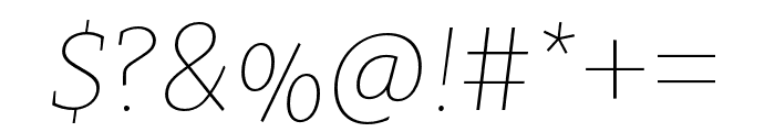 Clavo SemiBold Italic Font OTHER CHARS