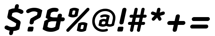 Clicker Compressed Bold Italic Font OTHER CHARS