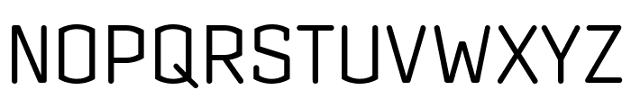 Clicker Compressed Light Font UPPERCASE