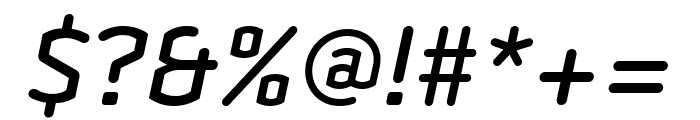 Clicker Compressed Medium Italic Font OTHER CHARS