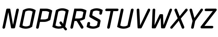 Clicker Compressed Medium Italic Font UPPERCASE