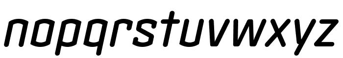Clicker Compressed Medium Italic Font LOWERCASE
