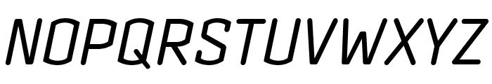 Clicker Condensed Book Italic Font UPPERCASE