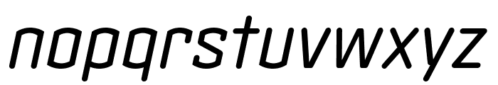 Clicker Condensed Book Italic Font LOWERCASE