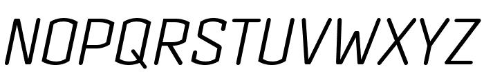 Clicker Condensed Light Italic Font UPPERCASE