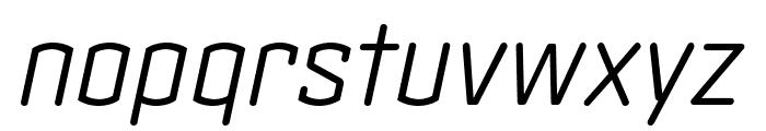 Clicker Condensed Light Italic Font LOWERCASE