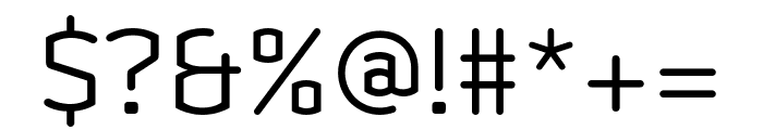 Clicker Condensed Light Font OTHER CHARS