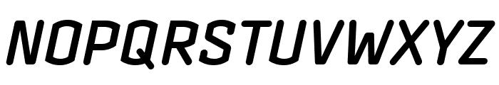 Clicker Condensed Semi Bold Italic Font UPPERCASE