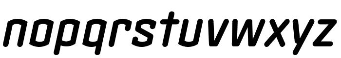 Clicker Condensed Semi Bold Italic Font LOWERCASE