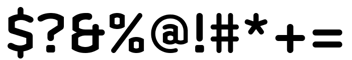 Clicker Condensed Semi Bold Font OTHER CHARS