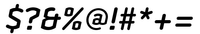 Clicker Semi Bold Italic Font OTHER CHARS