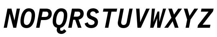 Code Saver Bold Italic Font UPPERCASE