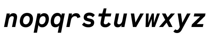 Code Saver Bold Italic Font LOWERCASE