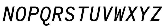 Code Saver Medium Italic Font UPPERCASE