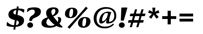 Collier Compressed Extra Bold Italic Font OTHER CHARS