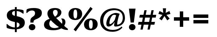 Collier Condensed Extra Bold Font OTHER CHARS