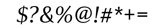 Collier Condensed Light Italic Font OTHER CHARS