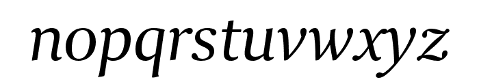 Collier Condensed Light Italic Font LOWERCASE