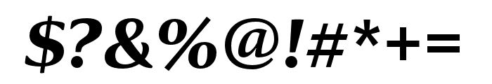 Collier Condensed Ultra Italic Font OTHER CHARS