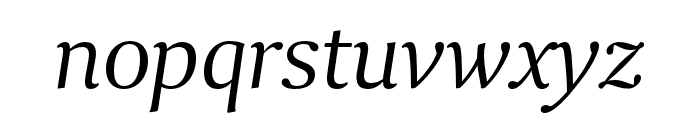 Collier Extended Light Italic Font LOWERCASE