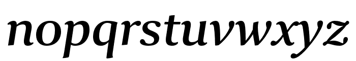 Collier Extended Semibold Italic Font LOWERCASE
