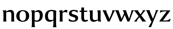 Collier Extended Semibold Font LOWERCASE