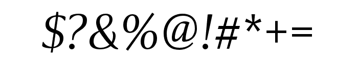 Collier Extra Light Italic Font OTHER CHARS