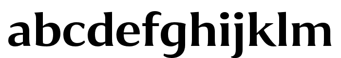 Collier Wide Semibold Font LOWERCASE