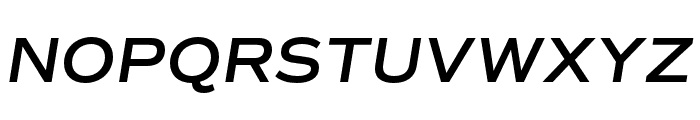 Commuters Sans SemiBold Italic Font UPPERCASE