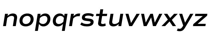 Commuters Sans SemiBold Italic Font LOWERCASE
