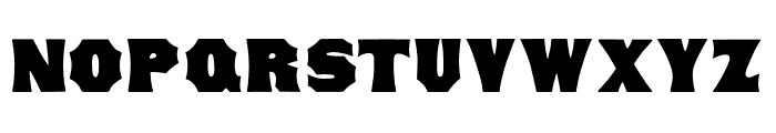 Concave Tuscan Regular Font LOWERCASE