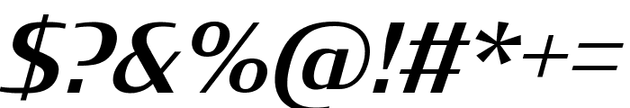 Condor Medium Italic Font OTHER CHARS