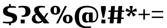 CondorExtd Bold Font OTHER CHARS