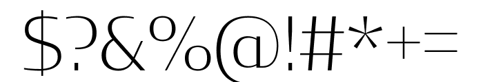 CondorExtd ExtraLight Font OTHER CHARS